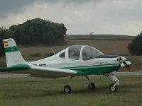 Flying a light plane