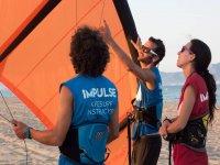 Lifting the kite