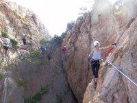 拉特雷西纳的铁索攀岩卡拉摩力
