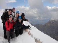 Snowy summit in Mallorca