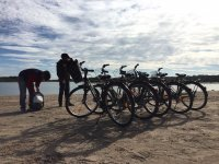 En the Albufera route with bicycles