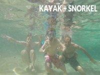 snorkeling con kayak