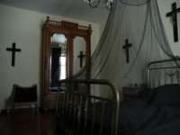 Room with crucifixes