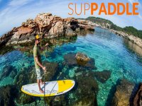 Sup between the coves of Ibiza