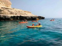 Kayak route on the beach of Tarifa