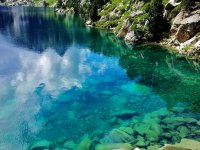 Turquoise waters in the ravine
