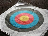 practicing aim archery