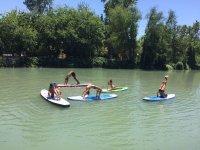 Sup fitness y paddle yoga en el Tajo