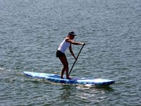 Paddling with a SUP board