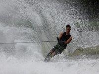 Water skiing in Ibiza