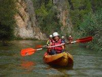 皮划艇路线在Pantano de la Fuensanta 1h