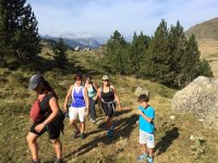 Hiking in Baqueira with kids