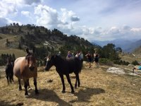 Next to the horses in Baqueira
