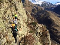 Walking on cables in the Pyrenees