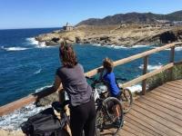 Con las bicis en Port de la Selva