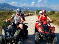 Quads en el camino en Málaga