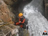 Water jet in the ravine