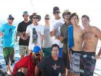 El mejor día de surf con los amigos
