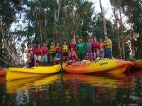 Despedidas de soltero en canoa