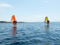 Windsurfing course with two students