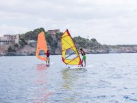 Learning windsurfing at sea