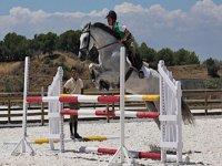 ragazzo che salta con il cavallo