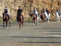 giro a cavallo a Malaga