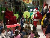 Visita de Santa en Navidad