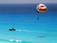 A parasail ride over the sea