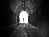 cycling through the tunnel