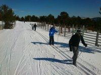 Esquiando por la Sierra de Madrid