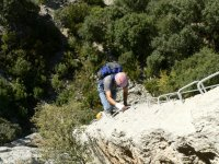 Initiation to climbing and crossing via ferrata routes