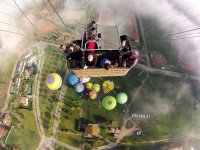view flying in a balloon