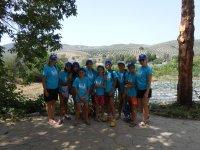 Alumnos del campamento de Granada