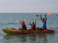 Canoa con monitor en Roquetas