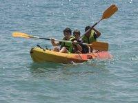 Compartiendo canoa en Roquetas