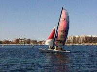 Sailing through Roquetas de Mar