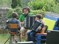 Practicing with the accordion