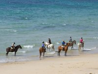 Montar a caballo en la playa de Tarifa