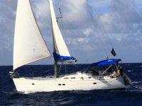 Pleasure sailboat