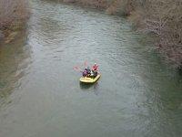 Terminando el descenso de rafting