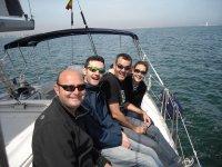 Clientes en barco