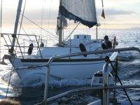 Navegando en el velero
