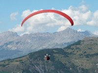 Overflying the mountain range
