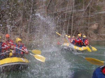 Whitewater kayak route N. P. Alto Tajo