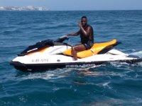 Pilotando una moto de agua en Fuengirola