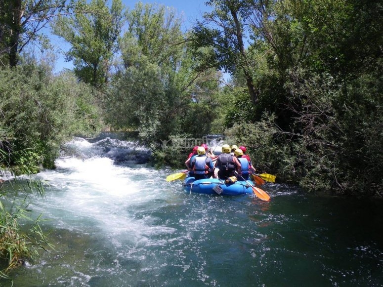 Rafting down the river