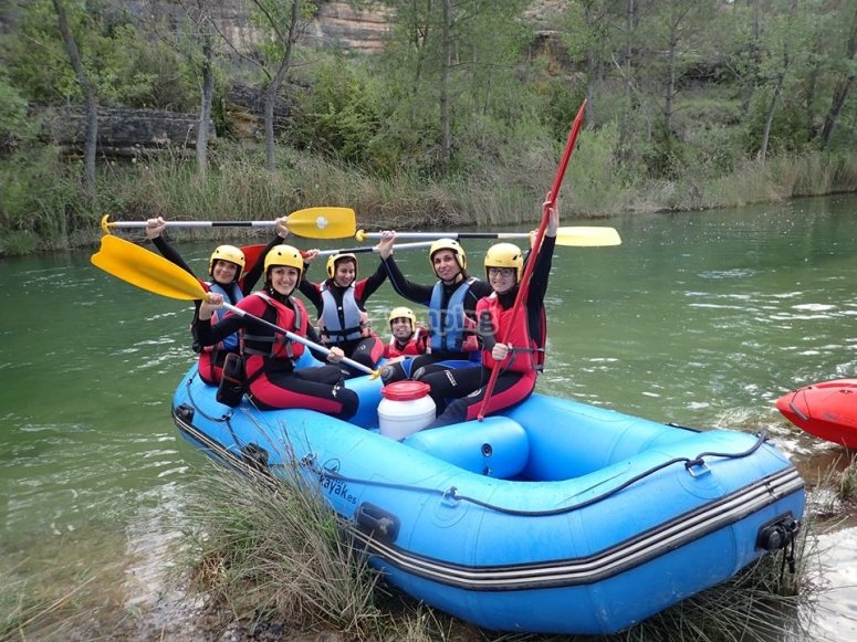 Sesion de rafting en el Guadiela