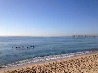 Along the coast of Badalona