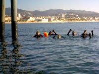 Diving baptisms in Badalona